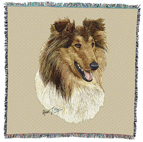 (Pure Country Weavers - Dachshund red Woven Throw Blanket with Fringe Cotton. USA Size)