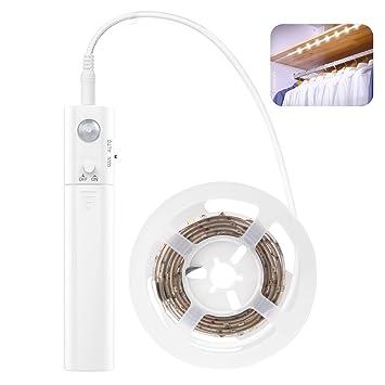 Lewondr Led Strip de Luz de Cuerda, 1M 30 LED Luz de Tira de Doble