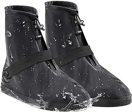 Black1 New Black XXL SZAT PRO Shoe Covers Rain Boots Waterproof