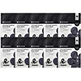 Mizon Solution Black Mask Volcanic Ash with Minerals, Far-Infrared Radiation for Detox, Deep Clean Skin, Black Mask Sheet Del