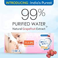 Tulips Sensitive Baby Wet Wipes (72 Wipes x 1 Pack), Rash Free, Buy & GET A Chance to Win Free Movie Voucher* in Association with Movie Good NEWWZ.