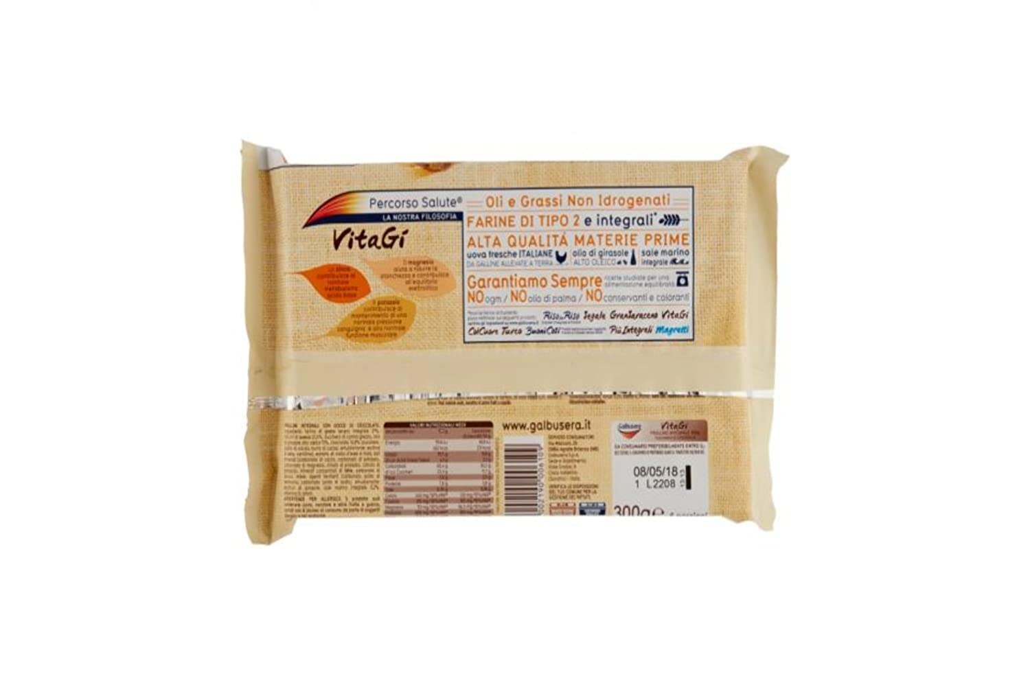 Amazon.com: Galbusera Vitagi Integral Biscuits with Chocolate Drops 300g, pack of 3