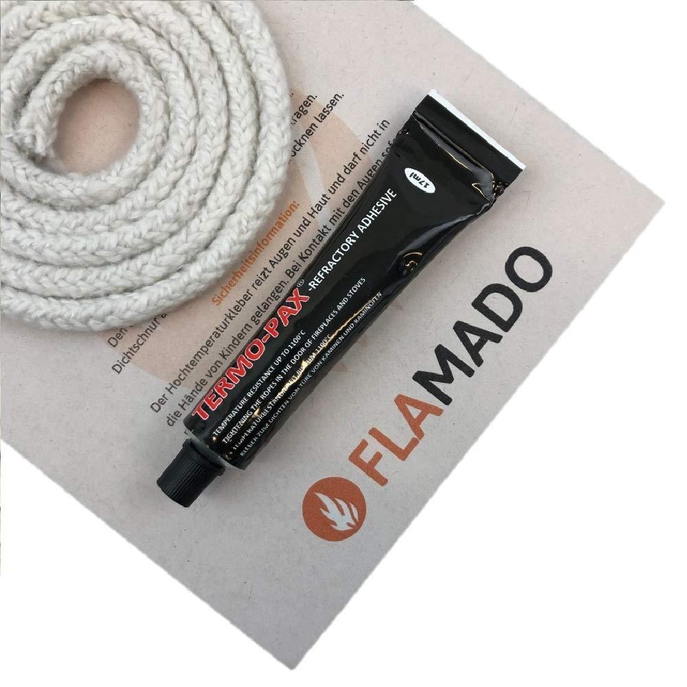 Flamado - Junta para Horno (cerámica, 10 mm, 2 m, Incluye Adhesivo ...
