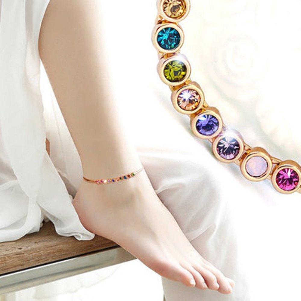 ❤Lovely Gift for Her❤ Kerr's Choice Rainbow Series Swarovski Bracelet and Ankle Bracelet