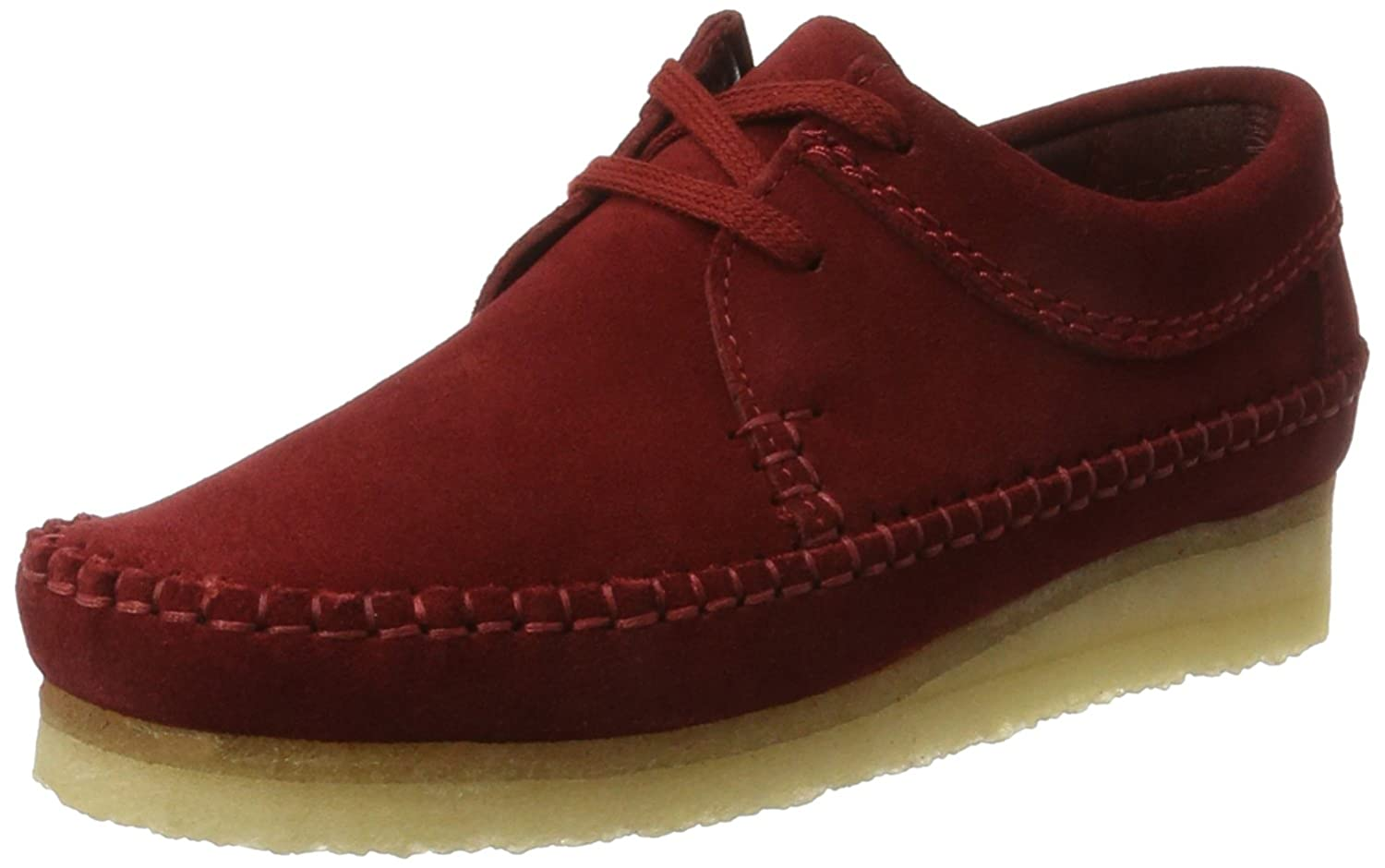 Amazon.com | CLARKS Originals Womens Weaver Cranberry Suede Shoes 6.5 US |  Shoes