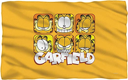 Amazon Com Garfield Faces Fleece Throw Blanket 36 X58 Home Kitchen