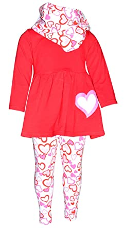 Amazon Com Unique Baby Girls Valentine S Day Red Pink Hearts