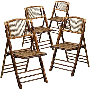 Charmant Flash Furniture 4 Pk. American Champion Bamboo Folding Chair