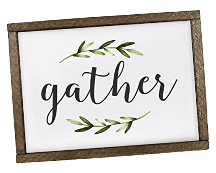 Amazon Elegant Signs Gather Sign Dining Room Decor Ideas Rustic