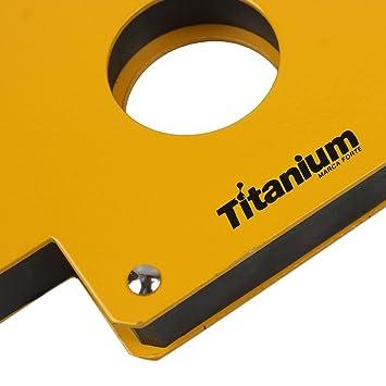 12977a0092cba Esquadro Magnético X6 para Solda 35Kg 4326 Titanium  Amazon.com.br   Ferramentas e Construção