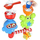 GOODLOGO Bath Toys Bathtub Toys for 1 2 3 4 Year Old Kids Toddlers Bath Wall Toy Waterfall Fill Spin and Flow Non Toxic Birth