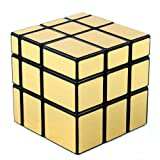 D-FantiX Shengshou Mirror Cube 3x3 Speed Cube Unequal Puzzles Golden Black