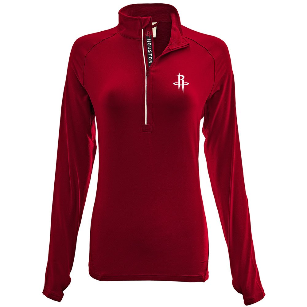 LadiesエネルギーInsignia Half Zipミッドレイヤー B074T8Y31Z Medium|レッド(Flame Red)|Houston Rockets レッド(Flame Red) Medium