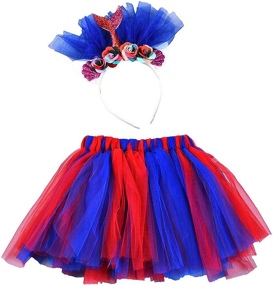 ZHMEI Niñas Tutú | Falda de Traje de Colores de Ballet de Baile ...
