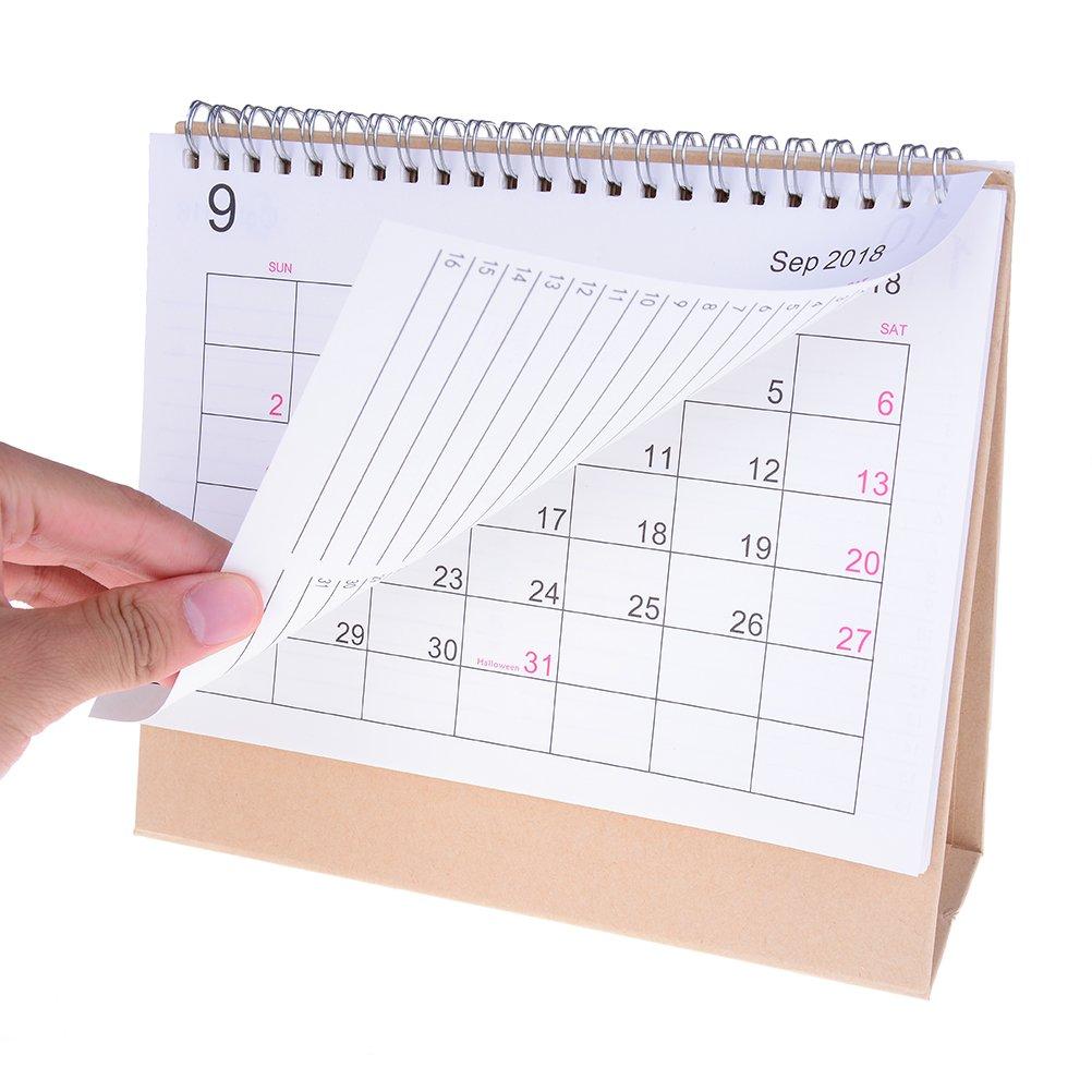 Amazon.com : TUANTUAN 1 Pcs 2018-2019 Desk Calendar Simple ...
