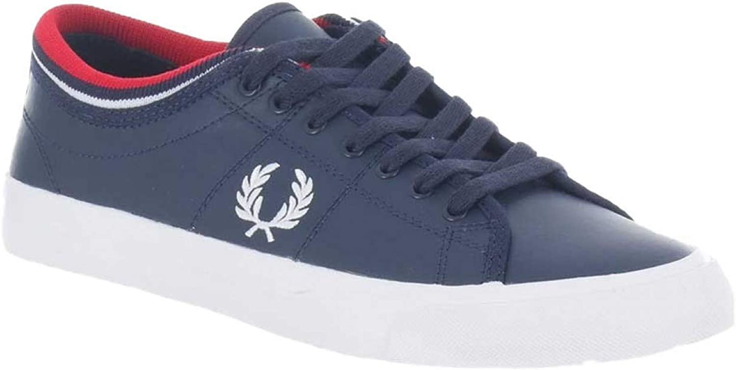 Fred Perry Kendrich Tipped Cuff Leather Navy-43