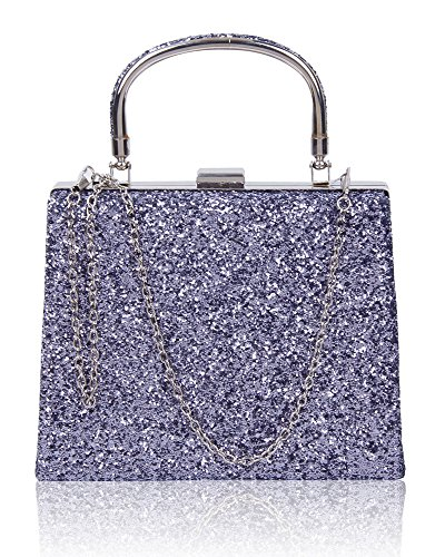 Party Wedding Shiny Bridal 5x6cm 5x15 Pewter Evening Dimensions Ladies Women Glitter For Bag Approx Clutch Prom 19 qwEtxAAId