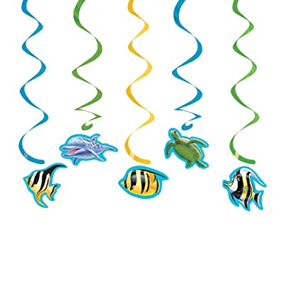 Creative Converting Ocean 5 Count Dizzy Danglers Hanging Party Decoration: Childrens Party Supplies: Kitchen & Dining