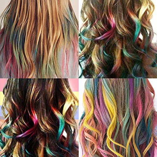 Hair Chalk Hair DyeTemporary Hair Color Comb Washable Hair Dye for Kid 6PC by Geeduo (Image #5)