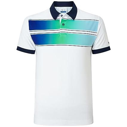 110ecd617 Callaway Golf 2018 Mens Opti-Dri X Range Double Chest Stripe Polo Shirt  Bright White