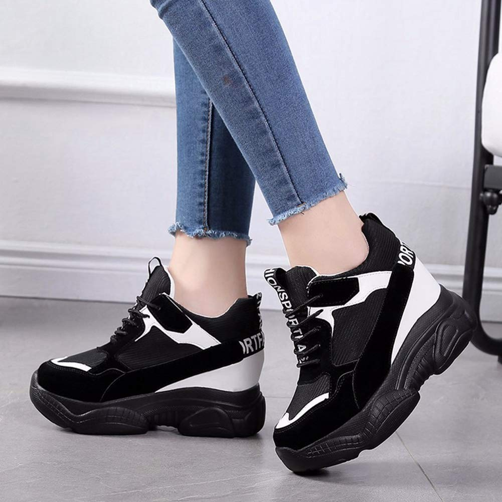 NOMIMAS Casual Women Shoes Height Increasing 9 cm Ladies Shoes Breathable Fashion Comfortable Platform Wedge Sneakers