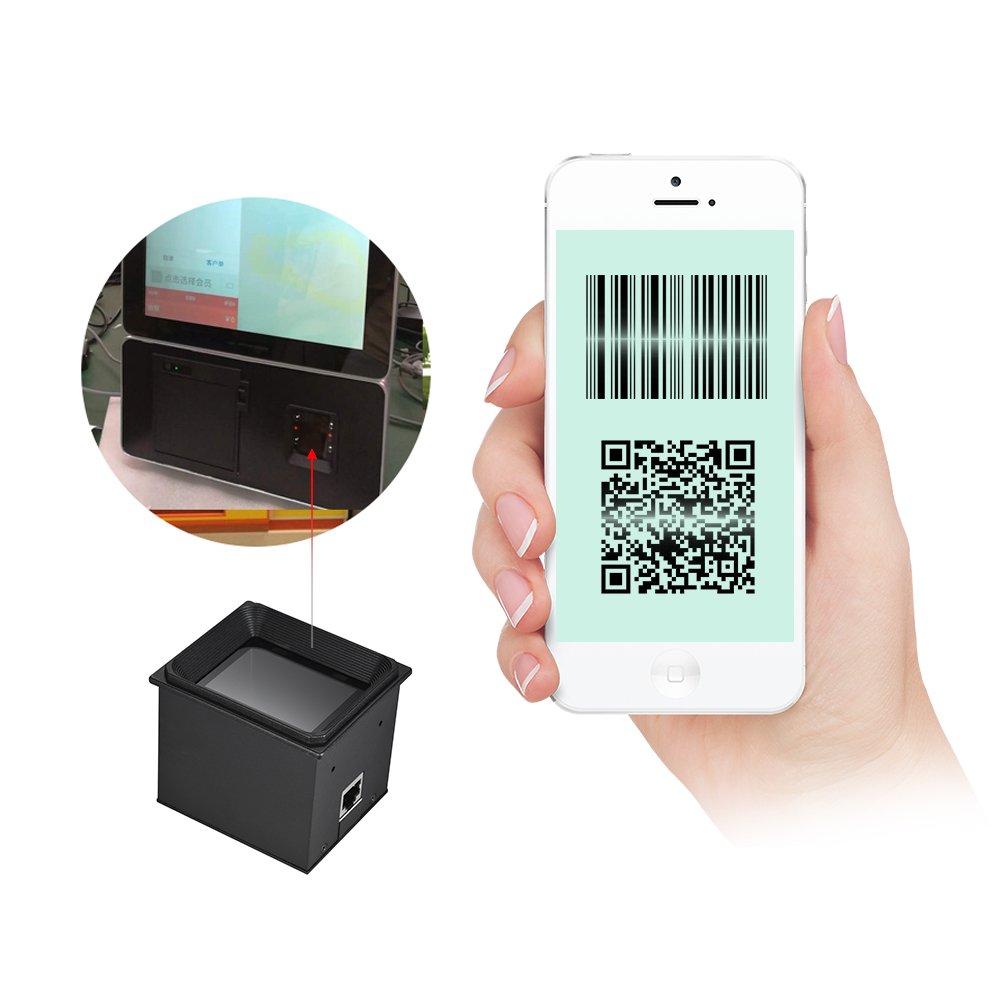 Aibecy 2D / QR / 1D Eingebettetes Scanner-Modul Barcode-Scanner Scan Engine mit USB-Kabel