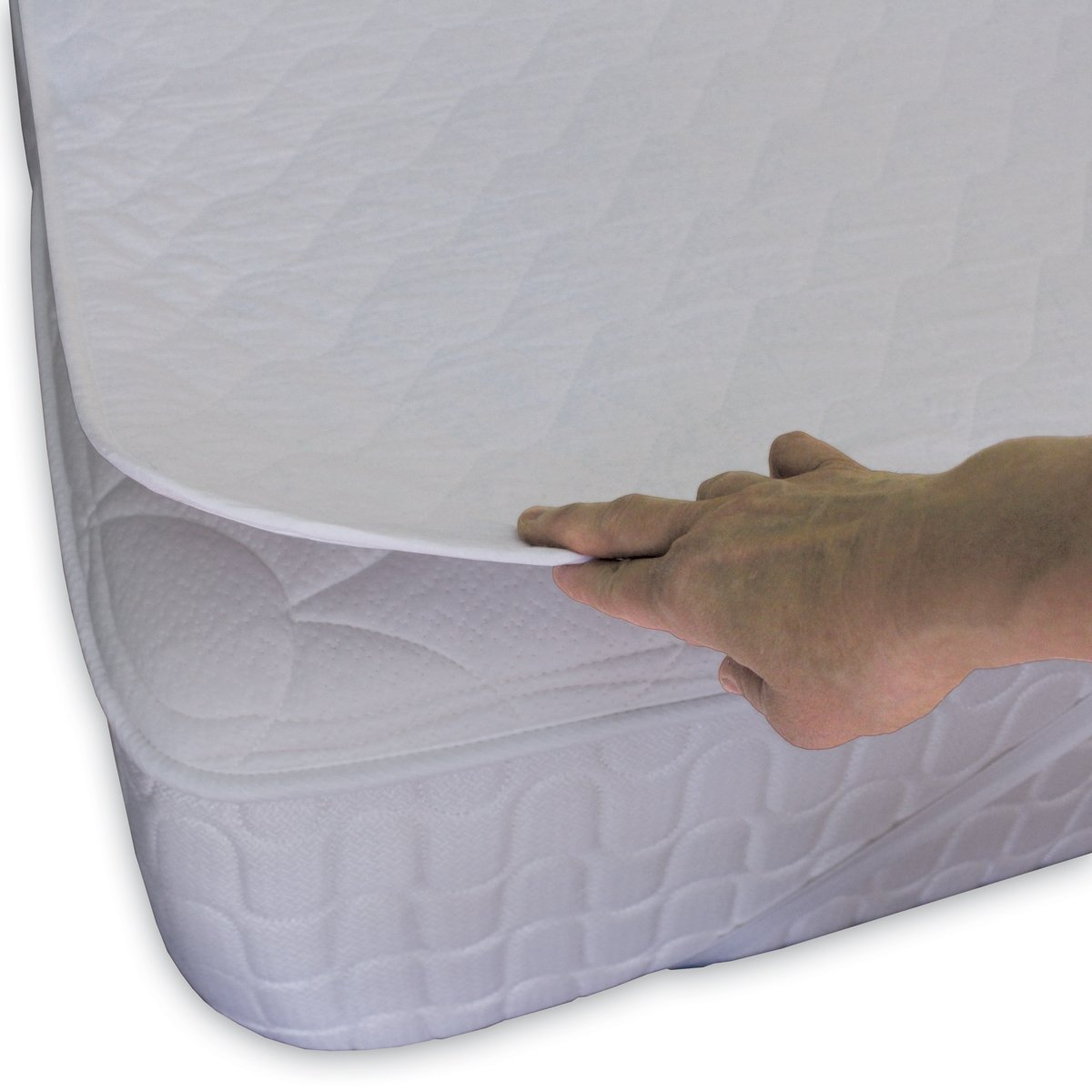 Waga Quilted Mattress Protector Premium - 20-YEAR WARRANTY - Waterproof and Breathable - Double (54'' x 75'')