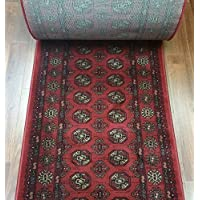 146124 - Rug Depot Central Radiance 5602.86.15 Crimson Boukara Traditional Hall and Stair Runner - 26' Wide Hallway Rug Runner - Custom Sizing - Red Background - Choose Your Length - 26' x 8 feet