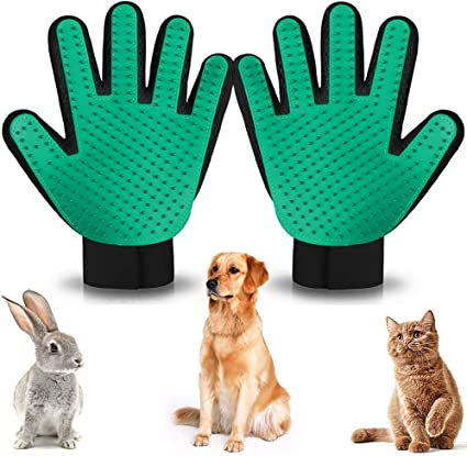 Pet Hair Remover for Dogs and Cats Cats Massage Mitt Efficient Shedding Glove COMBOMTEK Dog Grooming Glove for Dogs and Cats Cat Shedding Brush with 259 Tips Perfect for Dogs