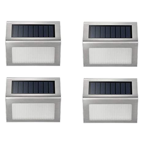 solar panel outdoor lights walkway solar step lights ithird led powered stair lights stainless steel outdoor lighting for