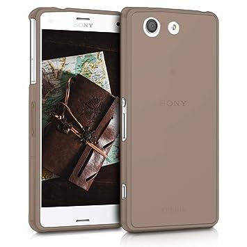 kwmobile Funda para Sony Xperia Z3 Compact - Carcasa Protectora de TPU para móvil - Cover Trasero en Negro