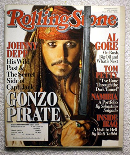 Sparrow Stones (Johnny Depp - Jack Sparrow - Pirates of the Caribbean - Rolling Stone Magazine - #1004-1005 - July 13, 2006)
