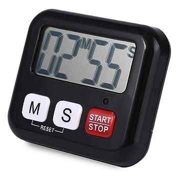 Temporizador de cocina reloj despertador reloj de cocina digital LCD Alarma Temporizador de cocina cuenta atrás Sport Up, negro: Amazon.es: Hogar