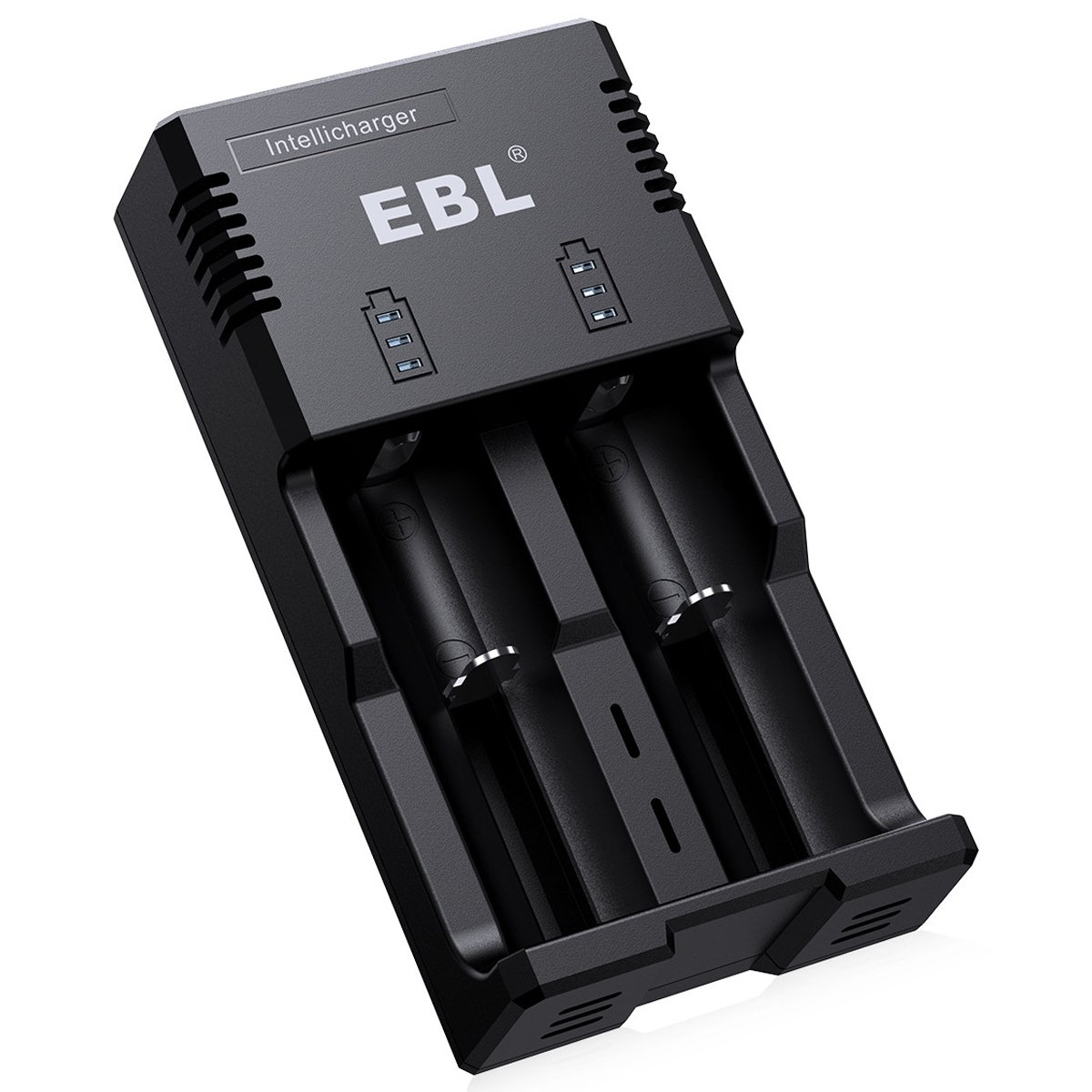 EBL Battery Charger for Li-ion/IMR / Ni-MH/Ni-Cd 26650 22650 18650 18490 18350 17670 17500 17335 16340 RCR123 14500 10440 AA AAA AAAA C Rechargeable Battery with iQuick Technology - ETL Certified