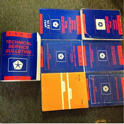1993 JEEP GRAND CHEROKEE GRAND WAGONEER Shop Service Repair Manual Set OEM (Cherokee Engine)
