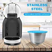 Tidyard Refillable Coffee Capsules Stainless Steel Coffee Maker Pod Filters Cup 0.35oz Capacity for Dolce Gusto EDG466 EDG606 EDG305 Mini Me EDG626 Coffee Machine