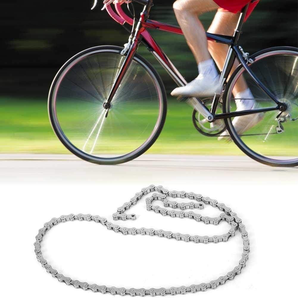 Cadena de una Sola Velocidad de Acero Inoxidable de Alto Carbono Duradero para Bicicletas de monta/ña Bicicletas Plegables Accesorio de Ciclismo VGEBY1 Cadena de Bicicleta