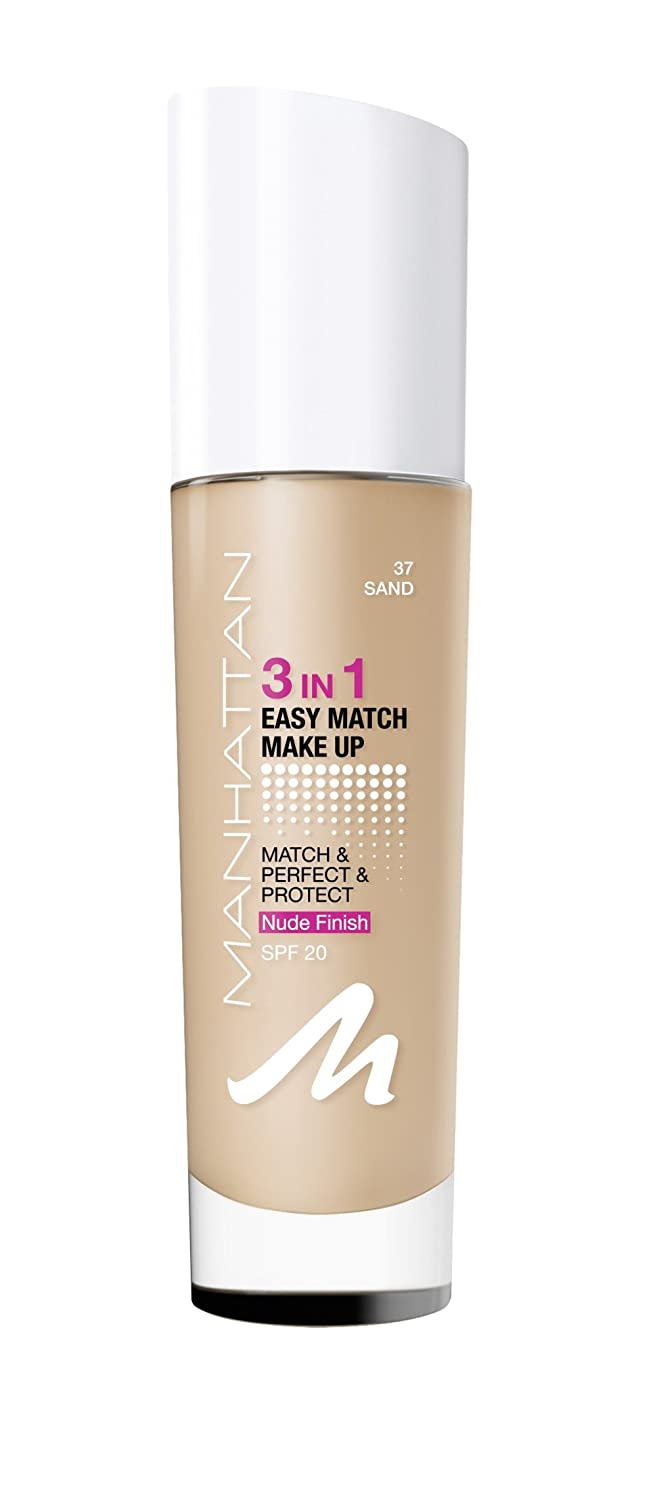 Manhattan 3in1 Easy Match Make Up, Farbe. 32 classic ivory, 1er Pack (1 x 30 ml) 21995602032