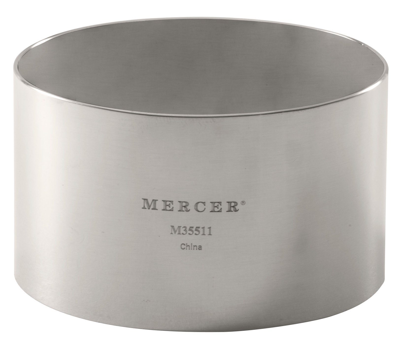 Mercer Culinary Steel Ring Mold Chef, 3 Inch x 1.75 Inch, Stainless