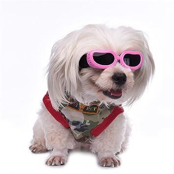 Awhao Gafas de sol para perros Gafas de protección solar Gafas a prueba de agua Para los perros pequeños de 4 colores