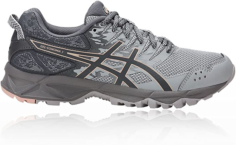 Asics Gel Sonoma 3 Dunkelgrau Trail Running Schuhe Für Damen