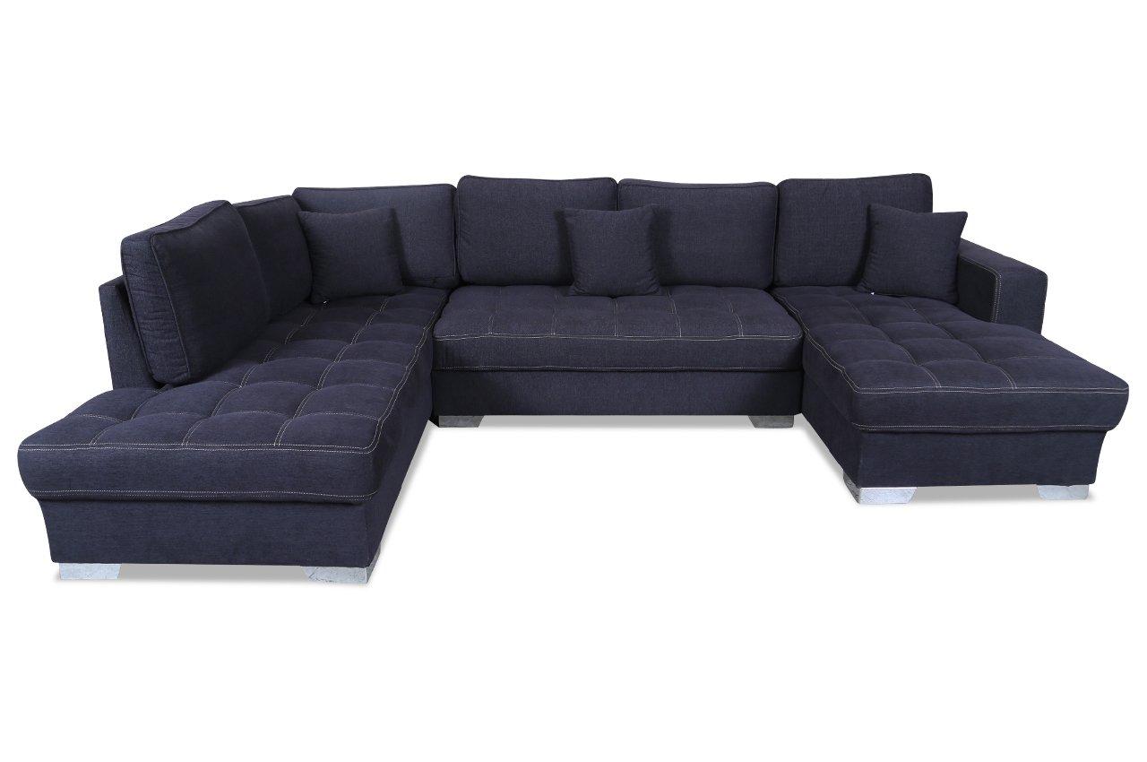 Sofa Couch Wohnlandschaft Arles Anthrazit Amazon De Kuche Haushalt