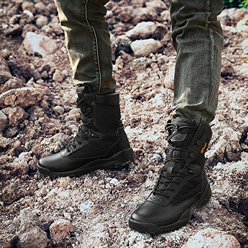Impermeabili Stivali Trekking per Scarpe Uomo Alta da Trekking Ad Stivali Militari da Resistenza Professionali Tattici Black Leggere Scarpe 0q7wHxIAp