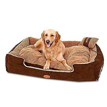 DAN Cama para mascotas de lujo para gatos y perros pequeños medianos con cojín desmontable suave , 90*60*26cm: Amazon.es: Deportes y aire libre