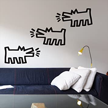 Pack Of Dogs Wall Stickers By Keith Haring Part 63