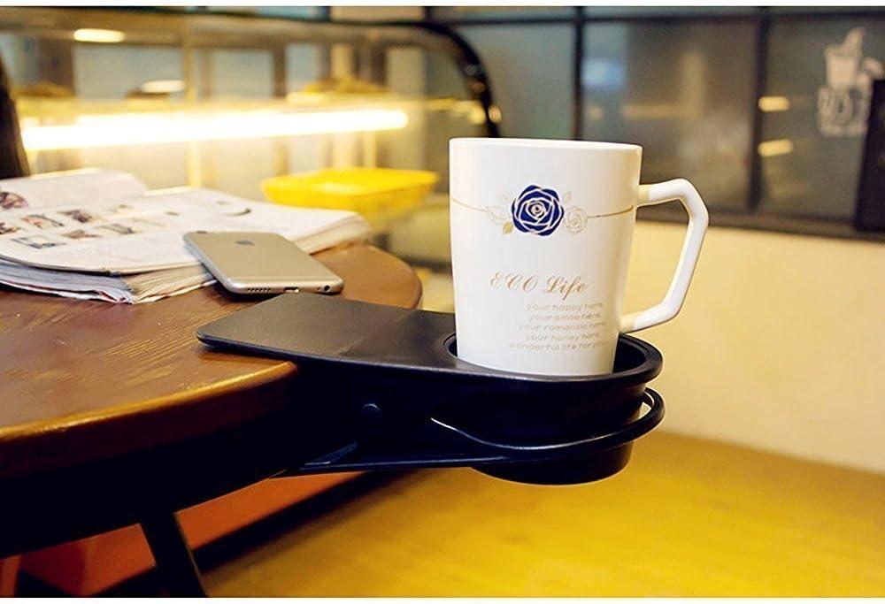 Getr/änke Schreibtisch Stuhl Auto B/üro Limo Kaffeetasse Schwarz Tisch Trinkbecher-Halterung mit Klemme /f/ür Zuhause Trinkbecher-Halterung f/ür Wasser