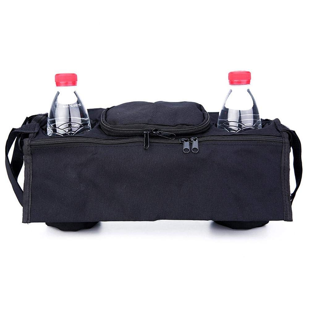 Books etc Wallets Extra-Large Storage Space for iPhone Premium Oxford Pram Deep Car Cup Holder Diapers Grey EUYOUZI Universal Double Stroller Organizer Toys