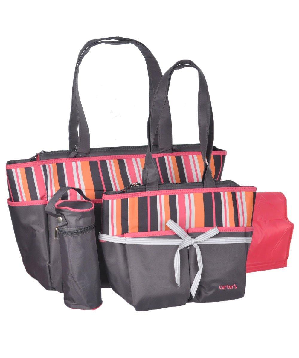 Amazon.com : La bolsa de asas del pañal Set - Rosa / Negro ...