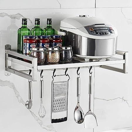 Soporte de Pared Soporte de microondas, Estante para cocina para ...