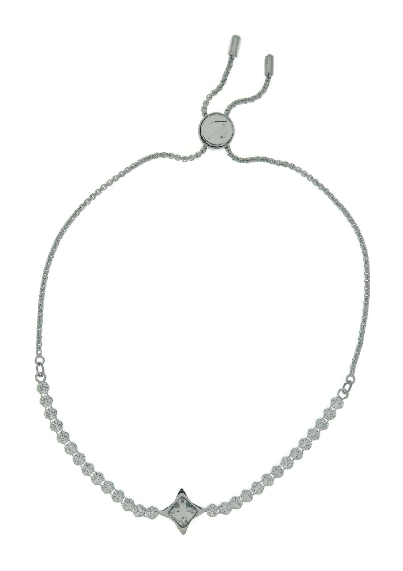 Swarovski Crystal White Rhodium-Plated Subtle Star Bolo Bracelet by Swarovski (Image #2)